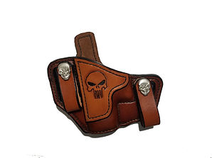 Leather OWB IWB Punisher Holster for Glock