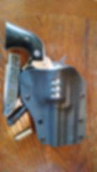 Custom Carbon Fiber Kydex Paddle Holster for A Ruger Blackhawk
