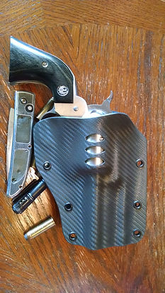 Custom Carbon Fiber Kydex Paddle Holster for A Ruger Blackhawk