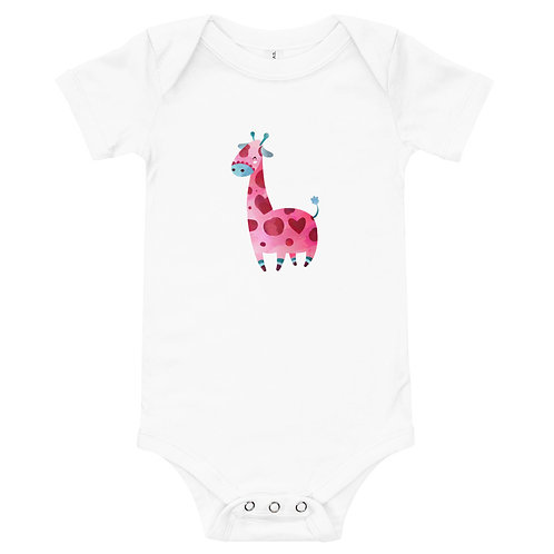Body Bebê Girafinha Aquarela