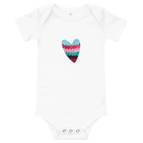 Body Bebê Coração Aquarela