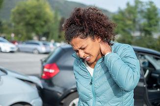 Painful whiplash after fender bender car