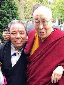 Amchi with H.H. The Dalai Lama, 2019