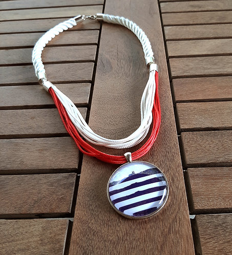 Balaton nyaklánc - fehér-piros