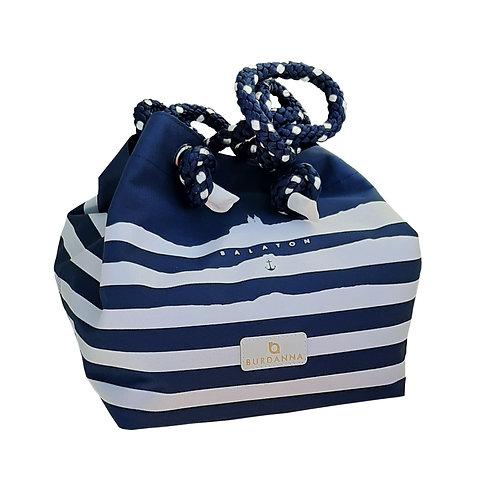 Balaton Cube táska - kék csíkos