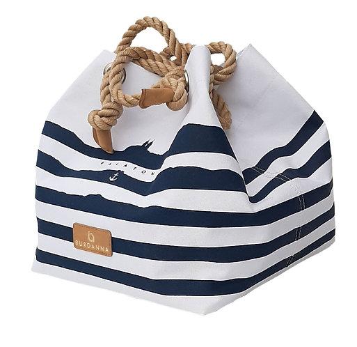 Balaton Cube táska - fehér csíkos