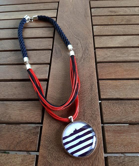 Balaton nyaklánc kék-piros