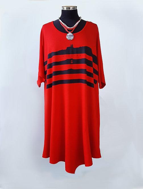 Lelle ruha piros