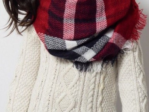 Kids flannel scarf