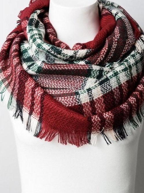 Kids flannel scarf