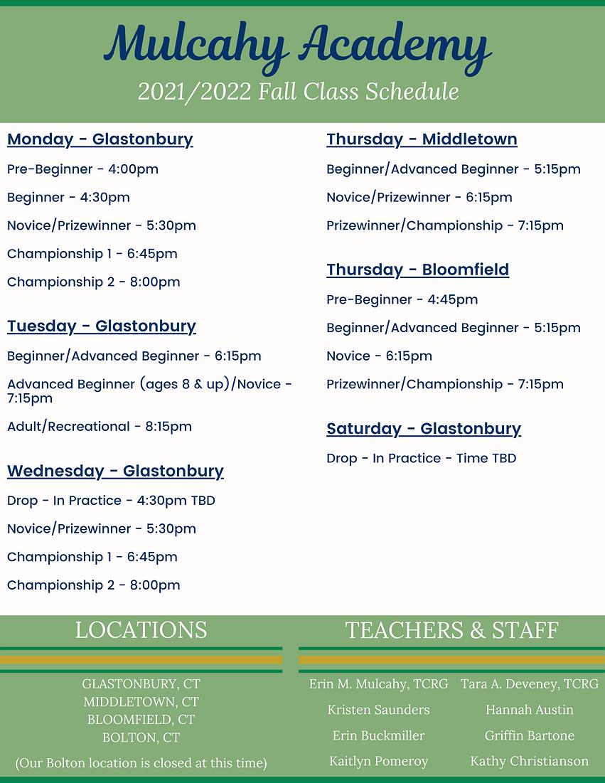 Monday - Glastonbury Pre-Beginner - Approx. 400pm Beginner - Approx. 430pm OireachtasShow