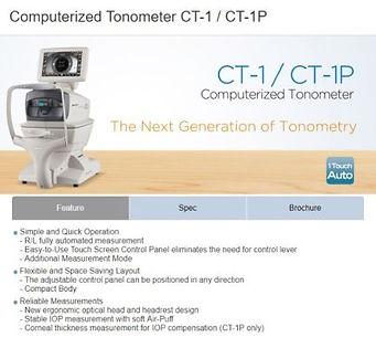 TOPCON Computerized CT-1 Tonometer / Tono-Pen