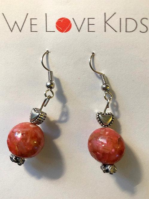 Brick Red Earrings