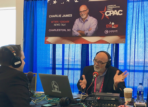 Broadcasting from CPAC, Washington D.C.