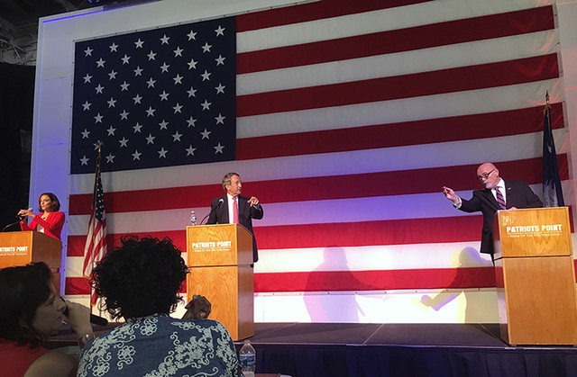 Moderating the Congressional Debate on the USS Yorktown