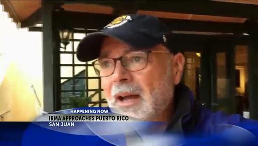 Reporting during Hurricane Irma from San Juan