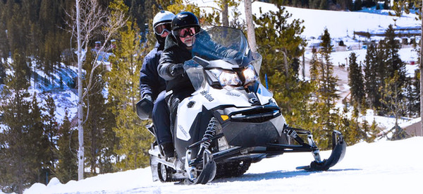 Snowmobiling on the Continental Divide