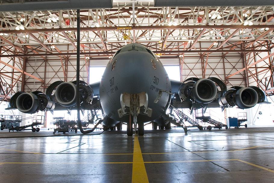 C-17 in hanger