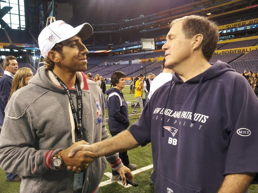 Coach Belichick & I post SuperBowl
