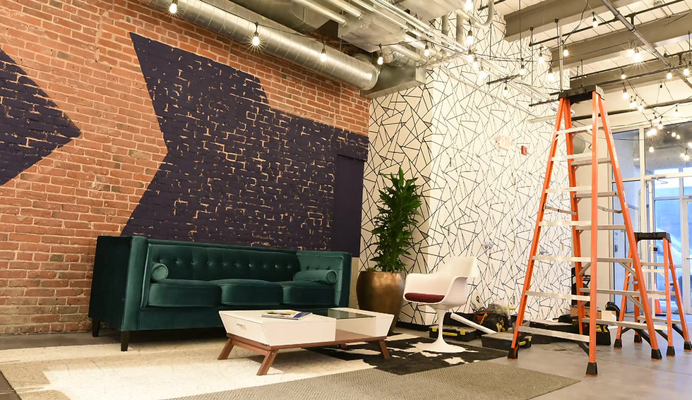 Installation of Exposed Neon at Muhlenhaupt + Company in Manyaunk, PA