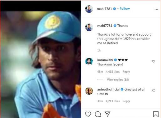 धोनी और रैना ने किया अंतरार्ष्ट्रीय क्रिकेट से संन्यास लेेने का ऐलान