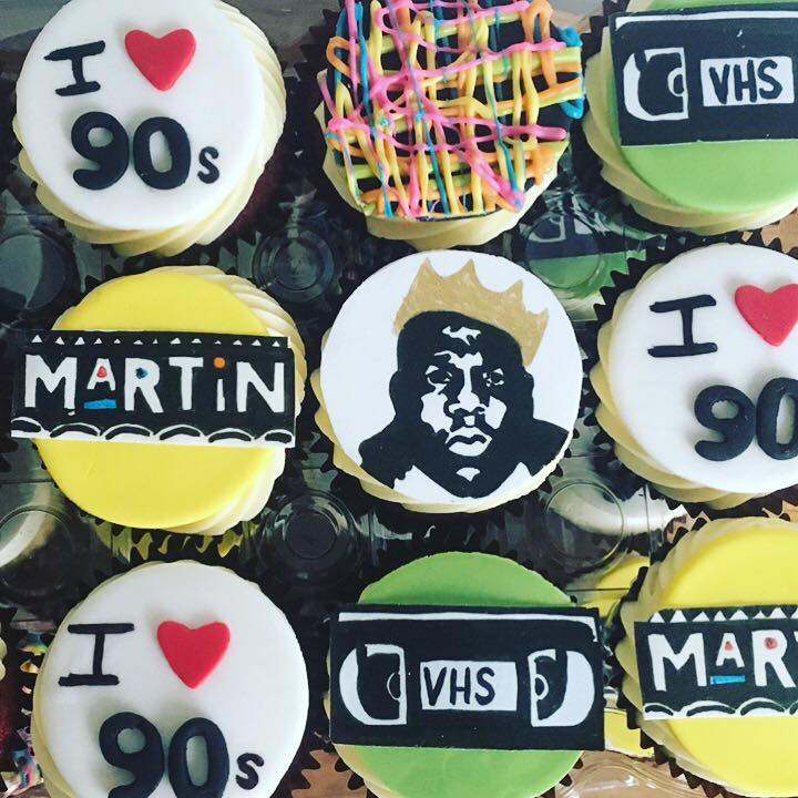 Custom 90s Theme Cupcake Toppers