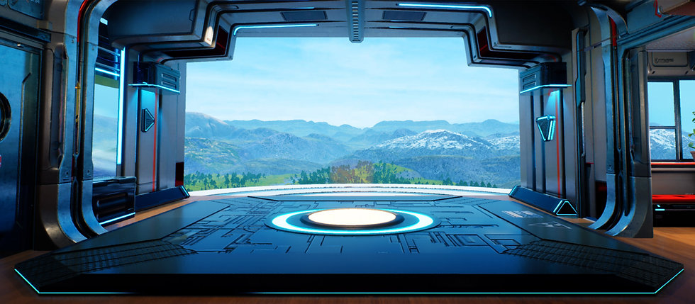 Hi from the Future Virtual World SciFi B