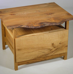 Natural Edge Elm Side Table