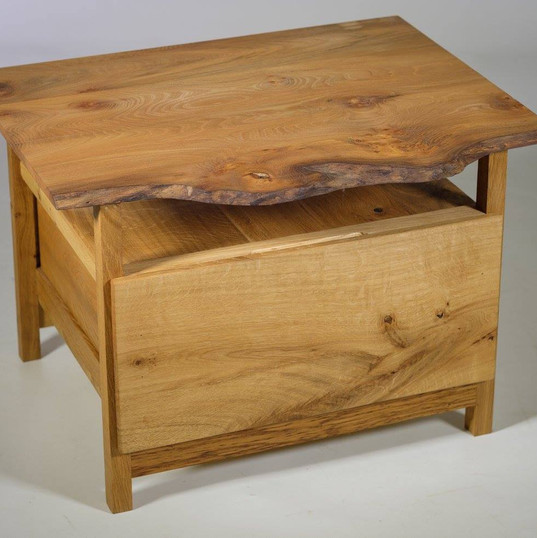 Natural Edge Elm Side Table