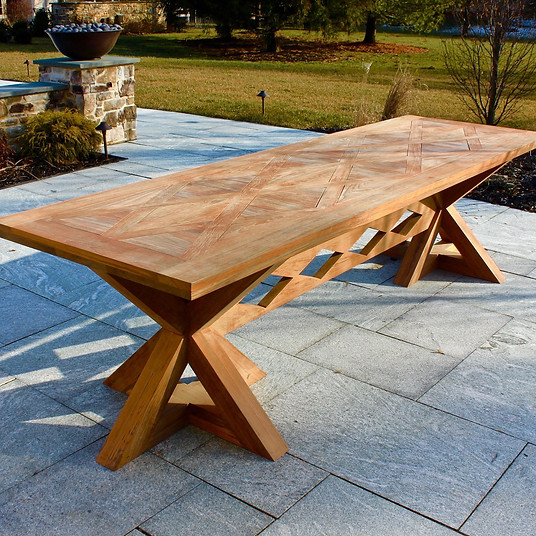 Natural Teak Dining Table