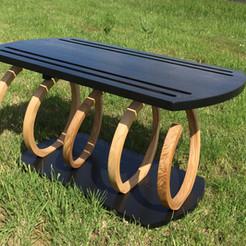 Ash and American Oak Horizontal Spiral Table