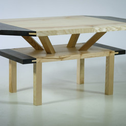 Two Tiered Angled Tenon Coffee Table