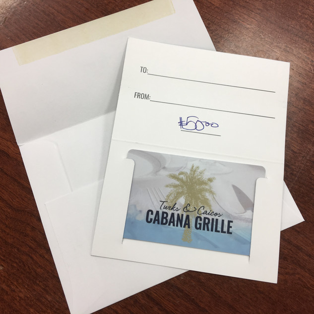 Donated by Cabana Grill