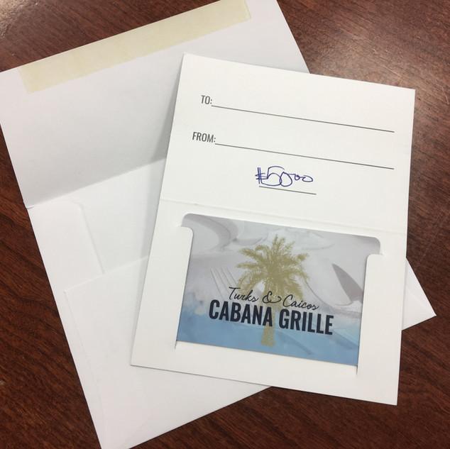 $50 Cabana Grill gift card: Joe Funke, Sioux Falls