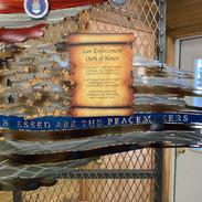 Metal Law Enforcement Oath Wall Art   Donated by King Skull Metal Works