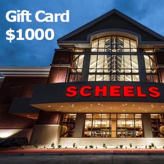 Scheels $1000 Gift Card
