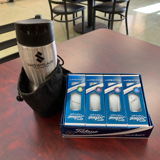 Dozen Titleist Golf Balls and Coffee Tumbler | Donated by Showplace Cabinetry