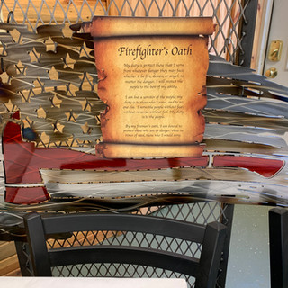 Metal Firefighters Oath Wall Art | Donated by King Skull Metal Works
