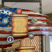 Metal Military Oath Wall Art   Donated by King Skull Metal Works