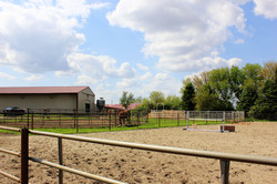 View of Round Pens