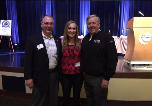 MO Pork Producers VP Don Nikodim, Kamber Cain & Missouri State Senator Mike Parson