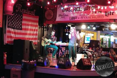 Kamber Cain with Guitarist James Reasoner at the Tin Roof on Demonbreun, Nashville, TN