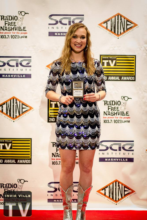 "2016 Indie Ville TV Awards ""New Country Female Artist of the Year""!"