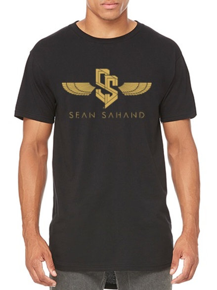 Men's Long T-Shirt - Black