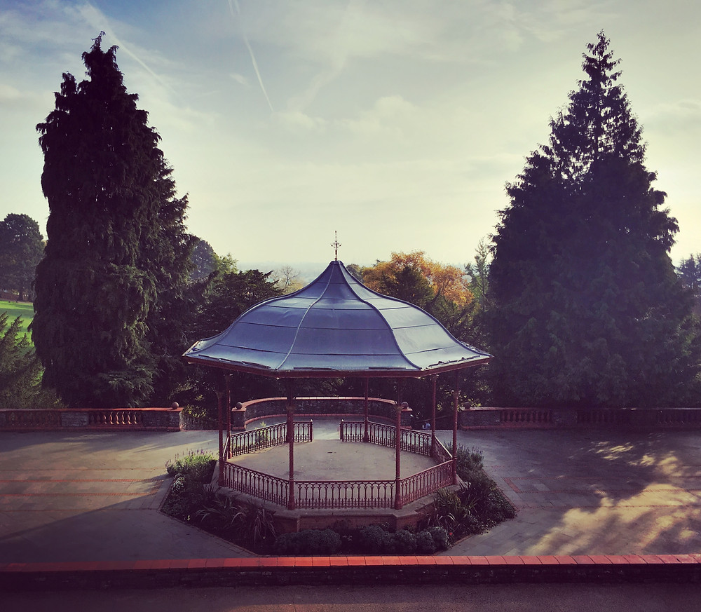 Victorian band stand in Belle Vue Park
