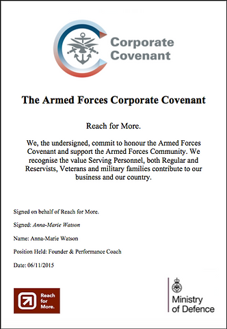 Reach for More. Armed Forces Corporate Covenant