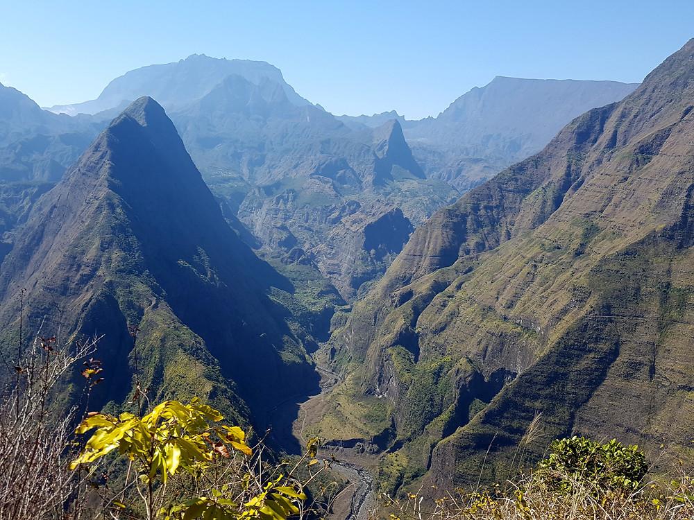 Steep sided valleys of Reunion Island Interior