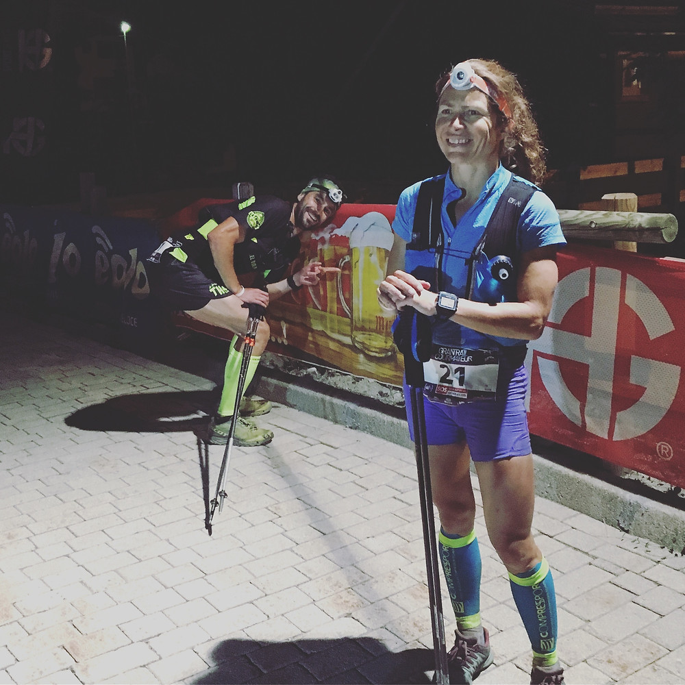 Crossing finishline at Gran Trail Courmayeur - 1st Lady & 10th Overall