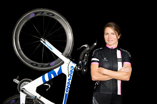 Anna-Marie Watson in MP Kit with her Cervelo P2 with Flo Wheels