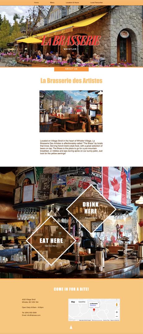 La Brasserie Website Sample.png